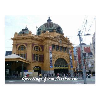 flinders st station postcard