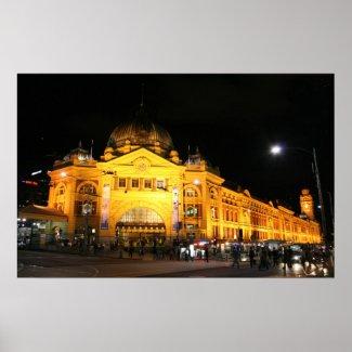 Flinders Station Melbourne Australia - Poster