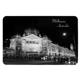 Flinders Station Melbourne, Black & White - Magnet