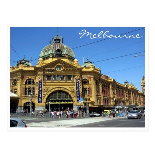 flinders stations melb postcard