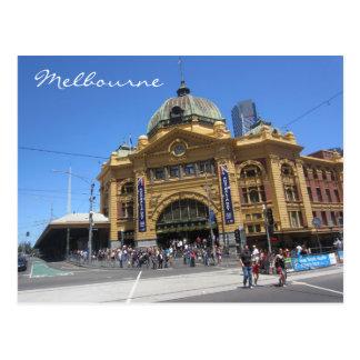 flinders street angle postcard