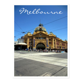 flinders street crossing postcard