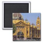 Flinders Street railway station, Melbourne, Austra Fridge Magnets