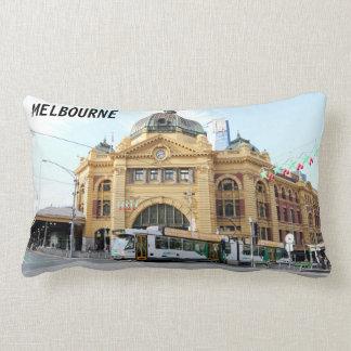 Flinders Street Station Melbourne Australia Lumbar Pillow