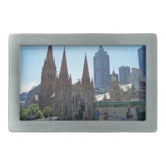 Flinders & Swanston Streets - Melbourne Rectangular Belt Buckle