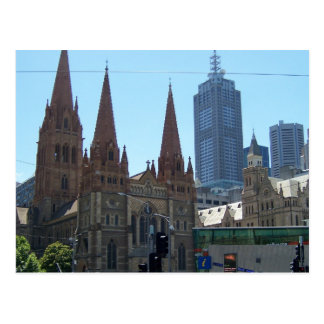 Flinders & Swanston Streets - Melbourne Postcard