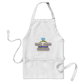 fling before ring bride bachelorette wedding party aprons