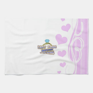 fling before ring bride bachelorette wedding party hand towels