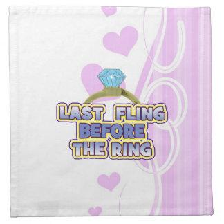 fling before ring bride bachelorette wedding party napkin