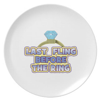 fling before ring bride bachelorette wedding party plates
