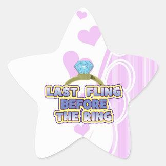 fling before ring bride bachelorette wedding party star sticker