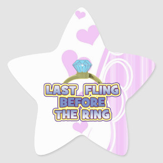 fling before ring bride bachelorette wedding party star stickers