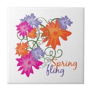Fling de la primavera tejas  cerámicas