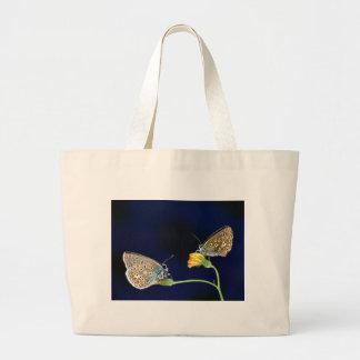fling de la primavera de las mariposas bolsa tela grande