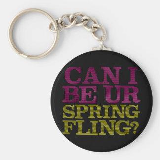 Fling de la primavera llavero redondo tipo pin