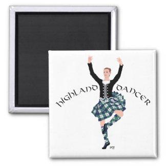 Fling de montaña escocés del bailarín iman para frigorífico