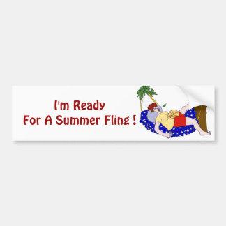 Fling del verano etiqueta de parachoque