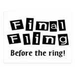Fling final antes del anillo postal