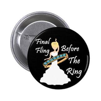 Fling final antes del fondo del negro del anillo pin