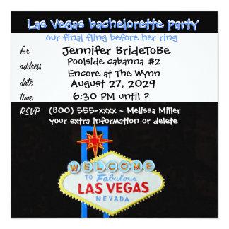 "Fling final de Las Vegas Bachelorette Invitación 5.25"" X 5.25"""