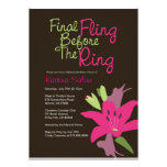Fling final del lirio rosado antes de la invitació comunicados personales