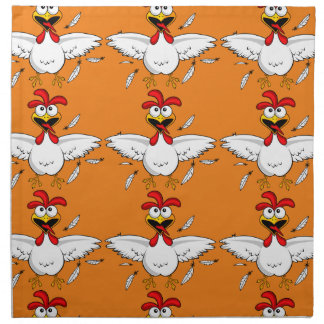 Fling loco divertido anaranjado del ala de pollo servilleta