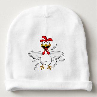 Fling loco divertido del ala de pollo del dibujo gorrito para bebe