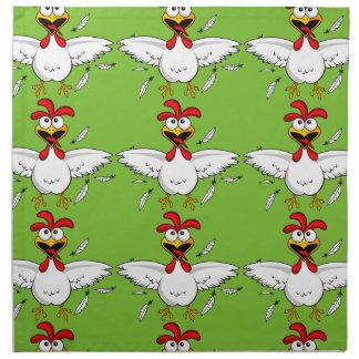 Fling loco divertido verde del ala de pollo del servilleta de papel