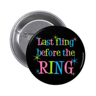 Fling pasado antes del botón del anillo pin redondo de 2 pulgadas