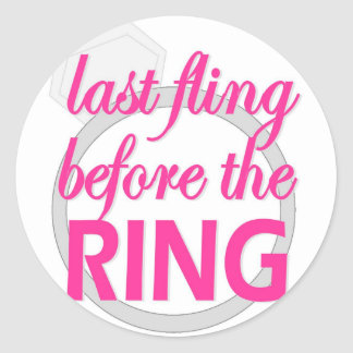 Fling pasado antes del pegatina del anillo