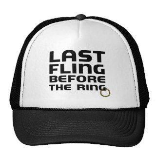 Fling pasado antes del soltero del anillo gorras