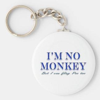 Fling Poo del amor del mono divertido Llavero Redondo Tipo Pin