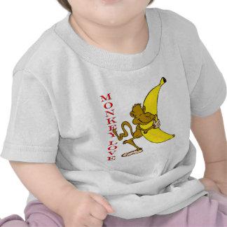 Fling Poo del amor del mono divertido Camiseta