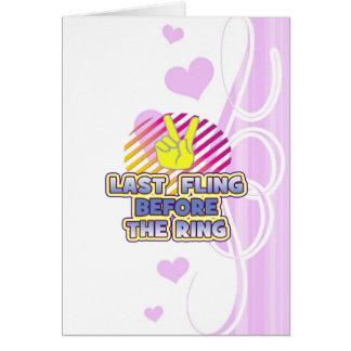 fling ring peace bachelorette wedding bridal cards