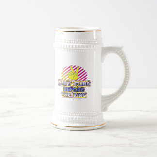 fling ring peace bachelorette wedding bridal mug