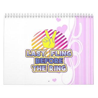 fling ring peace bachelorette wedding bridal calendar