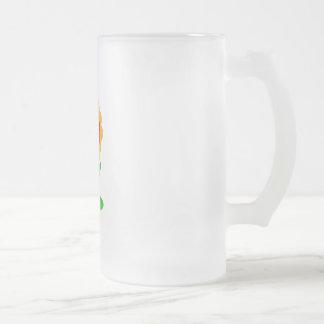 Flingy 16 Oz Frosted Glass Beer Mug