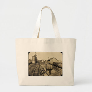 Flint and Pere Marquette Railroad Large Tote Bag