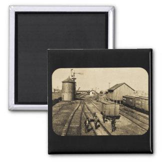 Flint and Pere Marquette Railroad 2 Inch Square Magnet