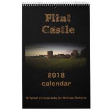 Flint castle north Wales calendar 2018
