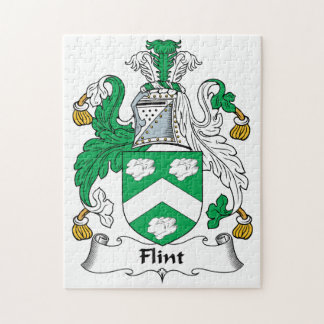 Flint Family Crest Jigsaw Puzzle