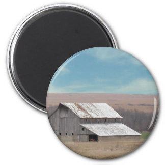 Flint Hills barn 2 Inch Round Magnet