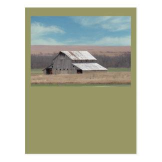 Flint Hills barn Postcard