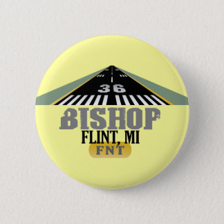 Flint, MI Bishop Airport FNT Airport Runway Button