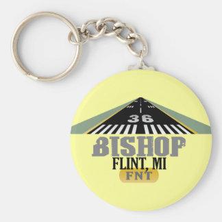 Flint, MI Bishop Airport FNT Airport Runway Keychain