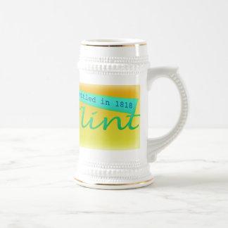 Flint, MI settled in 1818 Beer Stein 18 Oz Beer Stein