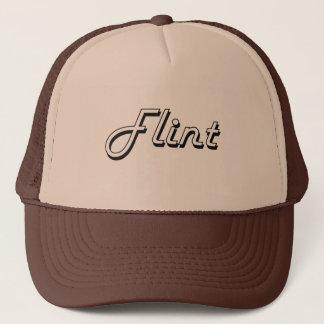Flint Michigan Classic Retro Design Trucker Hat