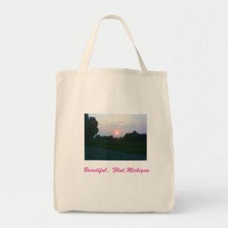 Flint,Michigan sunset Tote Bag