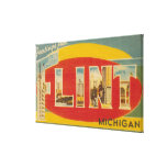 Flint, MichiganLarge Letter ScenesFlint, MI Canvas Print