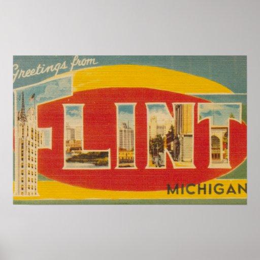 Flint, MichiganLarge Letter ScenesFlint, MI Poster